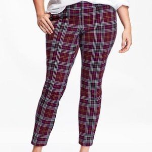 Old Navy Red Plaid Pixie Ankle Pant Size 26